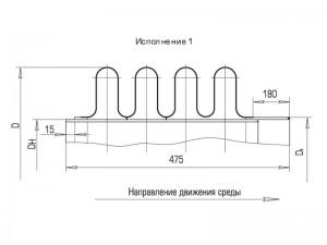 Схема работы четырехлинзового круглого компенсатора  пгву