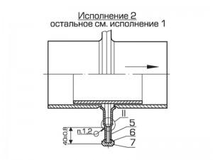 Схема осевого однолинзового компенсатора