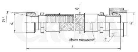 Металлорукав с арматурой «сфера-штуцер» РГМ