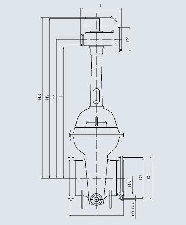 Задвижка 31с942р из углеродистой стали с гуммированным клином