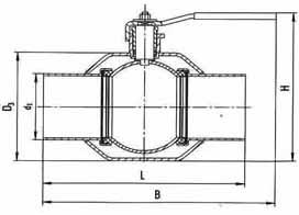 Цельносварные КШЦ 11с67п-Ц РУ40 приварной (полнопроходной) сталь 20, кшз
