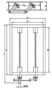 Клапаны ПГВУ прямоугольные двухосные