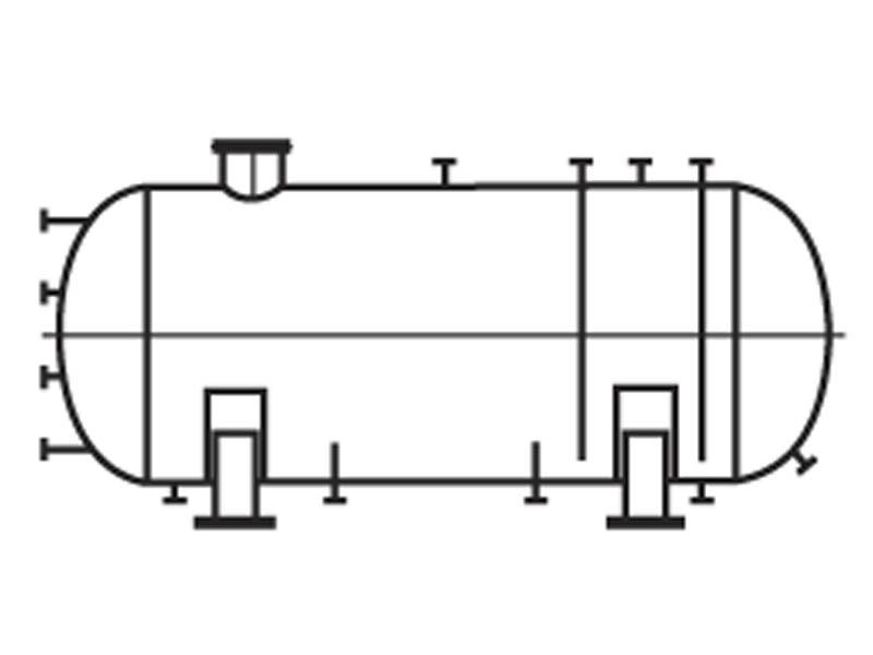 Емкости горизонтальные аппараты для жидких углеводородных сред газовой и нефтеперерабатывающей промышленности Тип1 ТУ 26-18-35-89