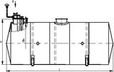Резервуары горизонтальные стальные (РГС), Горизонтальные с коническими неотбортованными днищами  Дополнительная информация   Горизонтальные с коническими неотбортованными днищами для надземной и подземной установки с внутренним подогревом и и без подогрева для хране- ния ГСМ ТП 704-1-158:164.83 типа РГС