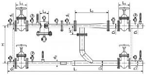 Схема теплового элеваторного узла