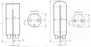 Вертикальный проточный воздухосборник (ресивер)