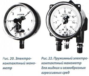 Рис. 20, 21 Электроконтактные манометрыы