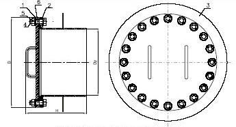 Люк-лаз ЛЛ круглый для резервуара