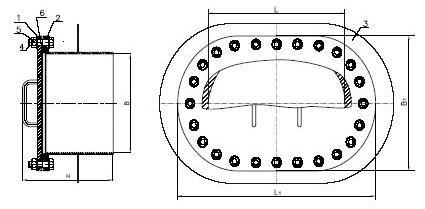 Люк-лаз ЛЛ овальный для резервуара