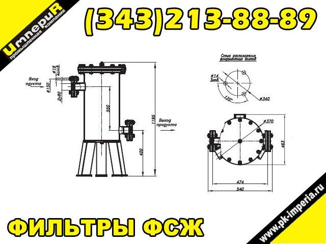 Фильтр сетчатый жидкостный ФСЖ 80-80-1.4