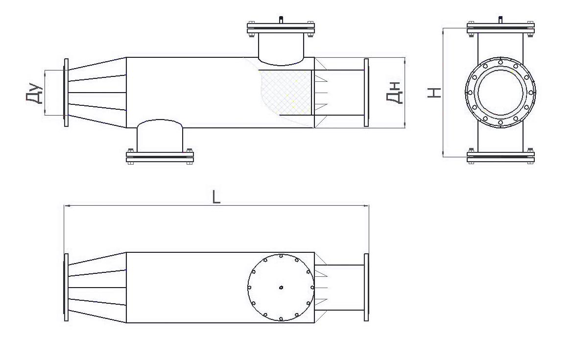 Грязевик горизонтальный ТС-565 чертеж