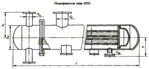 Чертеж подогреватель ПП 1-16-2-2